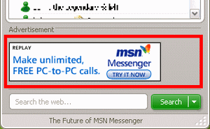 Ta bort reklam ur windows live messenger